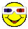 3-D Smiley with Cheap Glasses